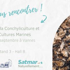 Affiche promotionnel Salon de la Conchyliculture et des Cultures Marines de Vannes